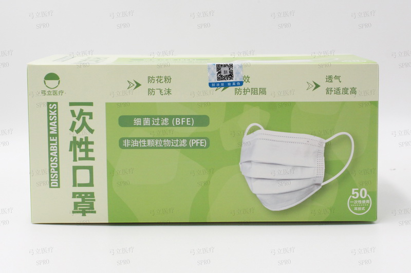 Disposable adult face mask ( outer earloop)175×95mm